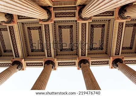 architectural details  of the Teatro Juarez in Guanajuato city,Mexico - stock photo