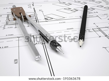 Architectural compass stock images royalty free images for Architectural engineering concepts