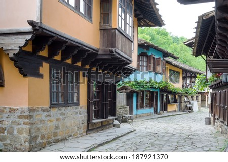 """Architectural ethnographic complex """"Etar"""", the first one of this type in Bulgaria. It presents the Bulgarian customs, culture and craftsmanship from the period of Ottoman Empire.  - stock photo"""