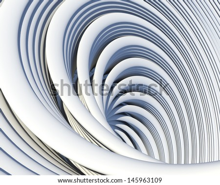 Architectural geometric background. Creative conceptual architecture design