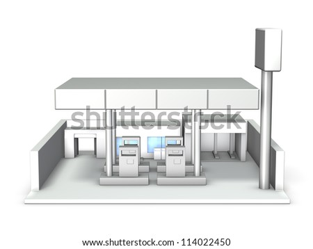 Architectural Model of gas station