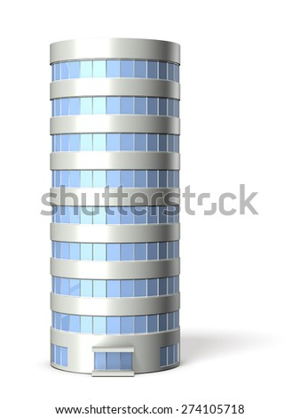 Architectural models of cylindrical building - stock photo