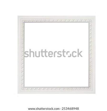 architectural square white frame molding. - stock photo