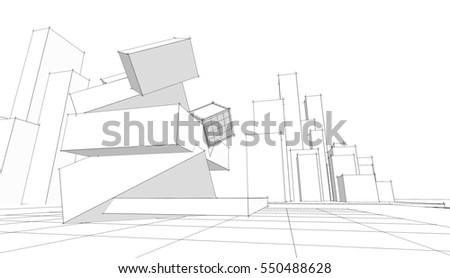 Architecture Abstract 3d Illustration