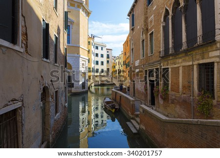 architecture along the Grand Canal. Venice. Italy.