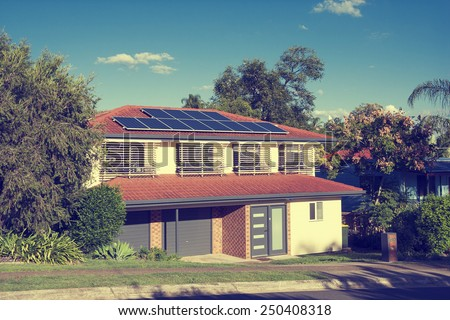 Architecture and Solar - stock photo
