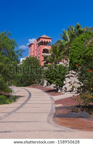 Architecture at Tenerife island - Canaries vacation background - stock photo