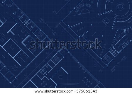 Architecture blueprint floor plan stock illustration 375061543 architecture blueprint floor plan malvernweather Choice Image