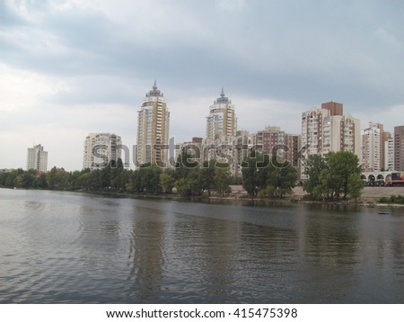 Architecture city river houses
