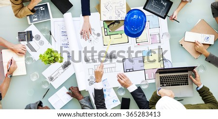 Architecture Design Messy Interior Meeting Concept