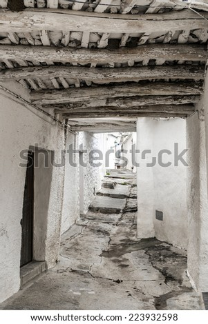 Architecture detail in Capileira in Poqueira ravine, La Alpujarra, Granada province, Andalusia, Spain - stock photo