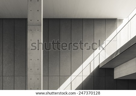 Architecture detail Modern, Black and White - stock photo