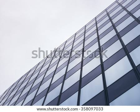 Architecture detail Modern Glass facade Pattern Background