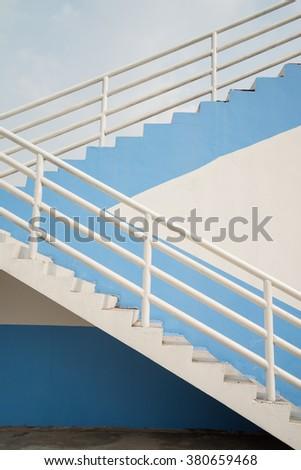 Architecture detail stairway of outdoor sport stadium - stock photo