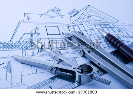 architecture draw & drawing instruments