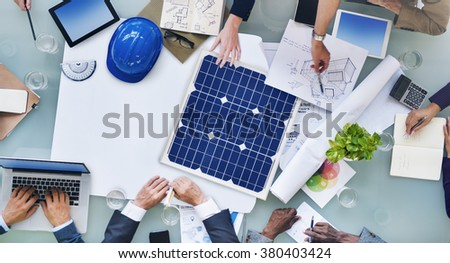 Engineers architects planning new project stock photo for Architectural engineering concepts