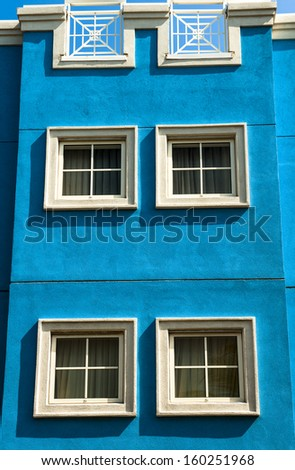 Architecture in Curacao is bright and eye catching - stock photo