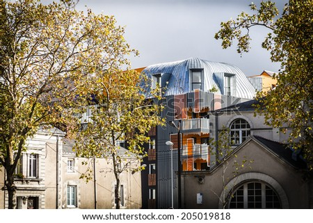Architecture in Nantes, France - stock photo