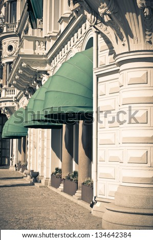 Architecture in Old City of Stockholm, Sweden - stock photo