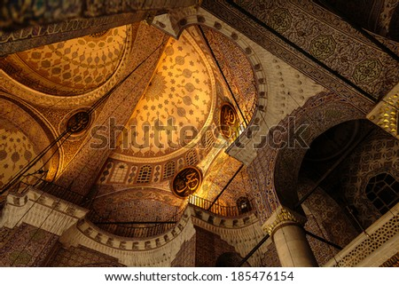 Architecture in Old Istanbul - stock photo