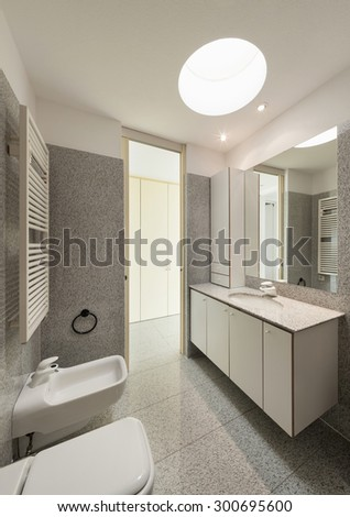 Architecture, interior of a modern house, bathroom view - stock photo