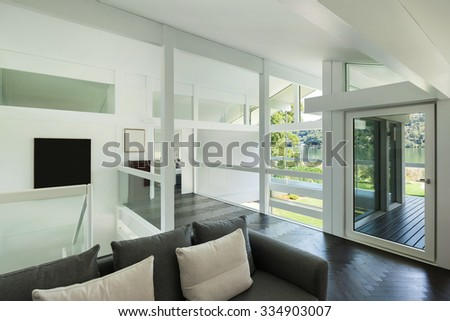 Architecture, interior of a modern house, open space