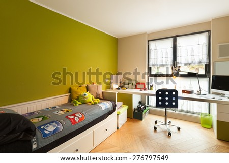 Architecture  interior of apartment furnished nice bedroom Interior Apartment Furnished Nice Bedroom Stock Photo