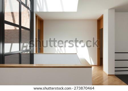 Architecture, Interiors of empty apartment, passage view - stock photo