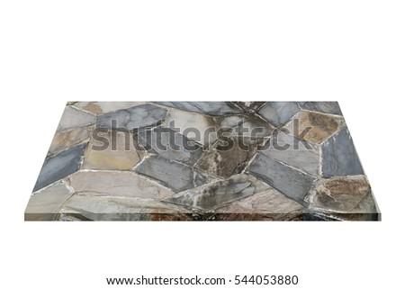 Isolates Sample Black Slate Rock Stock Photo 56061259