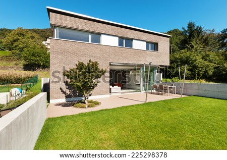 Architecture modern design, beautiful house, outdoor - stock photo