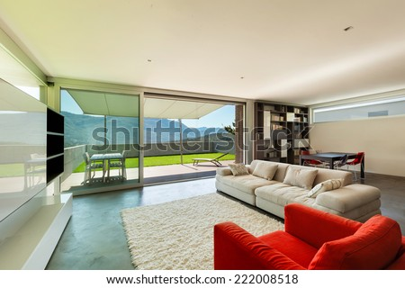 Architecture modern design, interior, living room  - stock photo