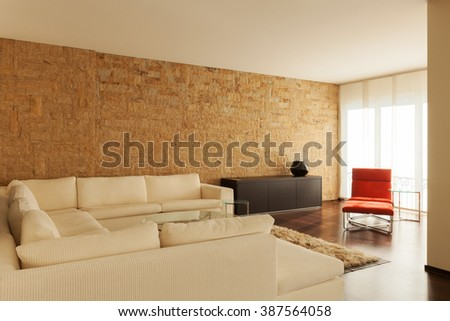 Architecture, modern house interiors - stock photo