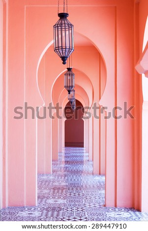Architecture morocco style - stock photo