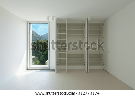 Architecture, new house interior,  room with closet