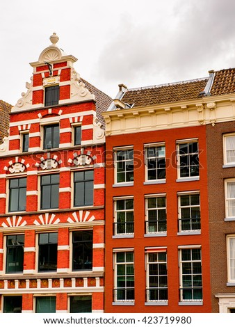Architecture of Amsterdam, Netherlands.