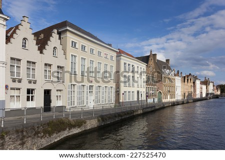 Architecture of Bruges, West Flanders, Belgium - stock photo