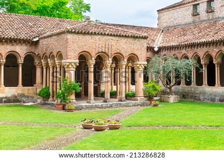 Architecture of Church San Zeno in Verona, Italy - stock photo