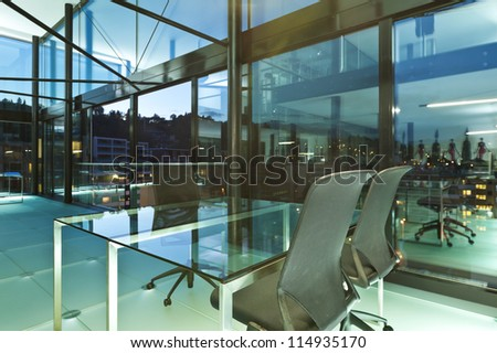 Architecture of De Angelis Mazza, interior, modern design, office - stock photo