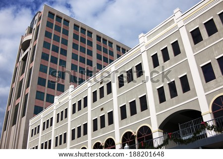 Architecture of downtown Tallahassee, Florida, USA. Seen morning time. - stock photo