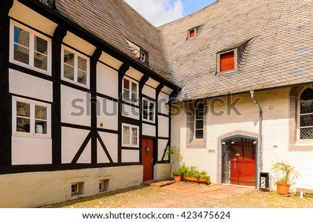 Architecture of Goslar,  Lower Saxony, Germany.