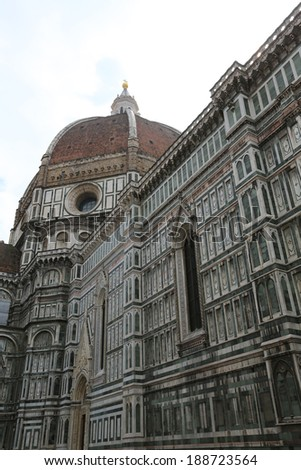 Architecture of Italy. Florence - center of the region Tuscany