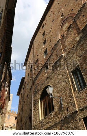 Architecture of Italy. Sienna - one of the largest tourist centers - stock photo