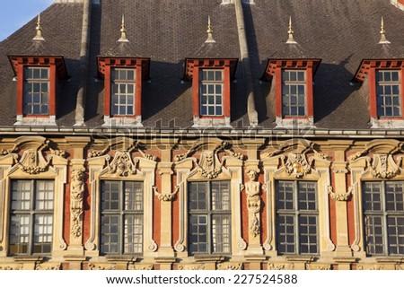 Architecture of Lille, Nord-Pas-de-Calais, France - stock photo