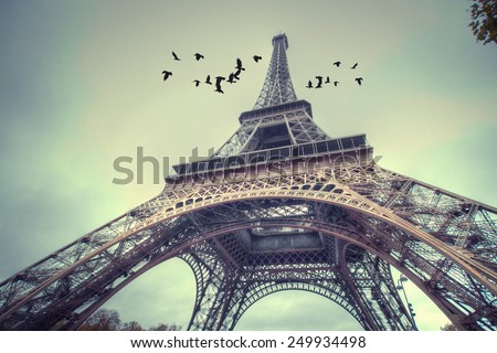 Architecture of Paris .France. Europe - stock photo