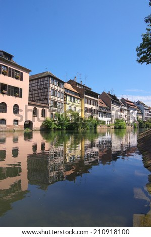 Architecture of Strasbourg, Alsace, France