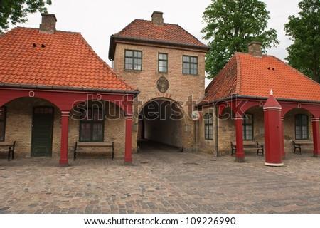 Architecture of the beautiful old city of Copenhagen - stock photo