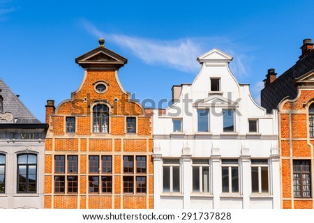 Architecture of the centre of Brussels, Belgium - stock photo