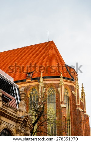 Architecture of the historic part of Wroclaw , Poland. - stock photo