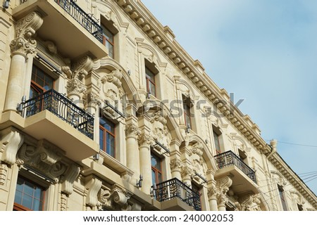 Architecture of the old Baku