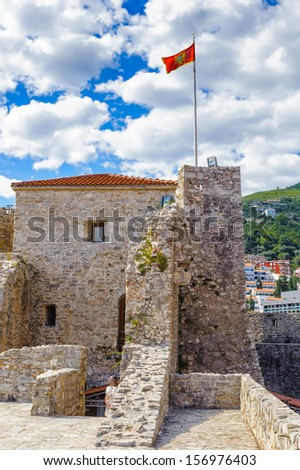 Architecture of the Old Town of Budva, famous for the earthquakes it suffered in 1979